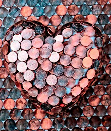 Heart of coins